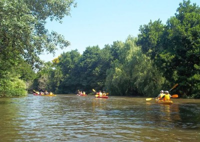Kayaking on the river Palmones
