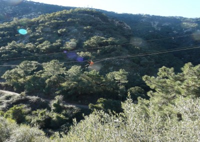 Zip line and walking in the Sierra de Espadán